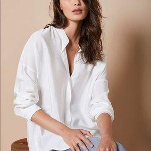 REVOLVE Vince Cotton White Loose Long Sleeve Shirt